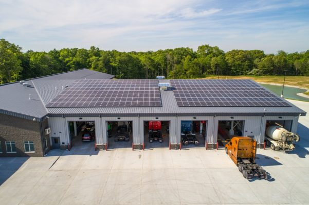 roof mounted solar panels truck center
